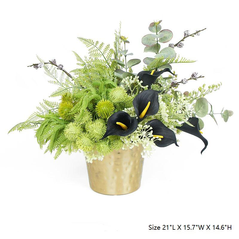 Faux Lily in Green Plant Table Centerpiece - G Home Collection