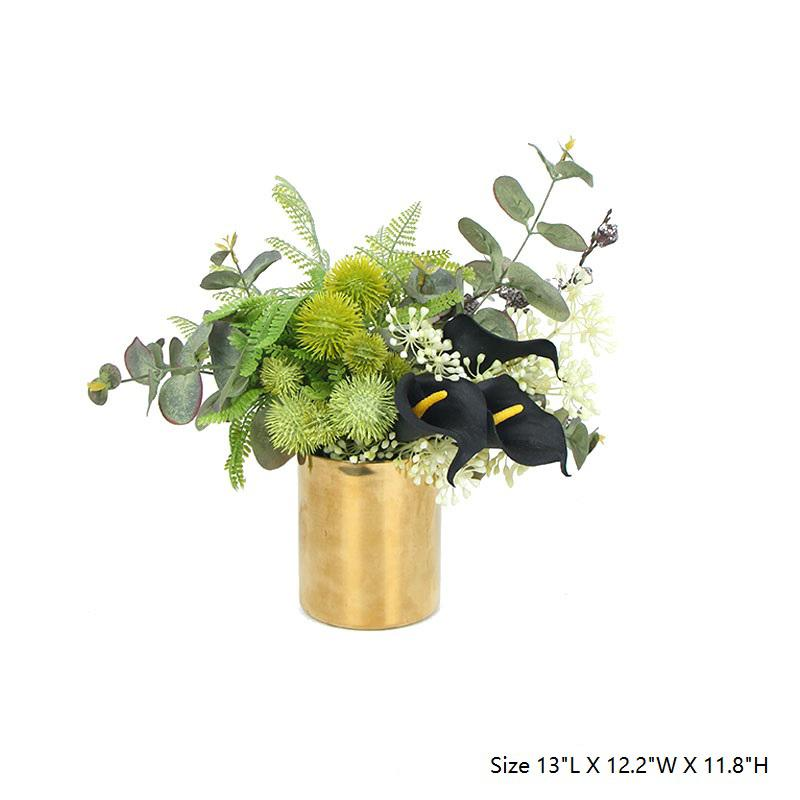 Faux Lily in Green Plant Arrangement Small - G Home Collection