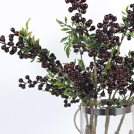 "Artificial Multi Berry Stem in Red 35"" Tall - G Home Collection"