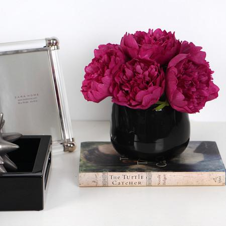 Dark Pink Peony Flower Arrangement - G Home Collection
