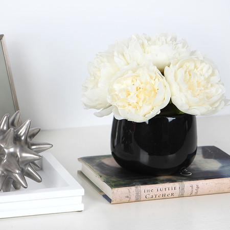 White Peony Flower Arrangement - G Home Collection