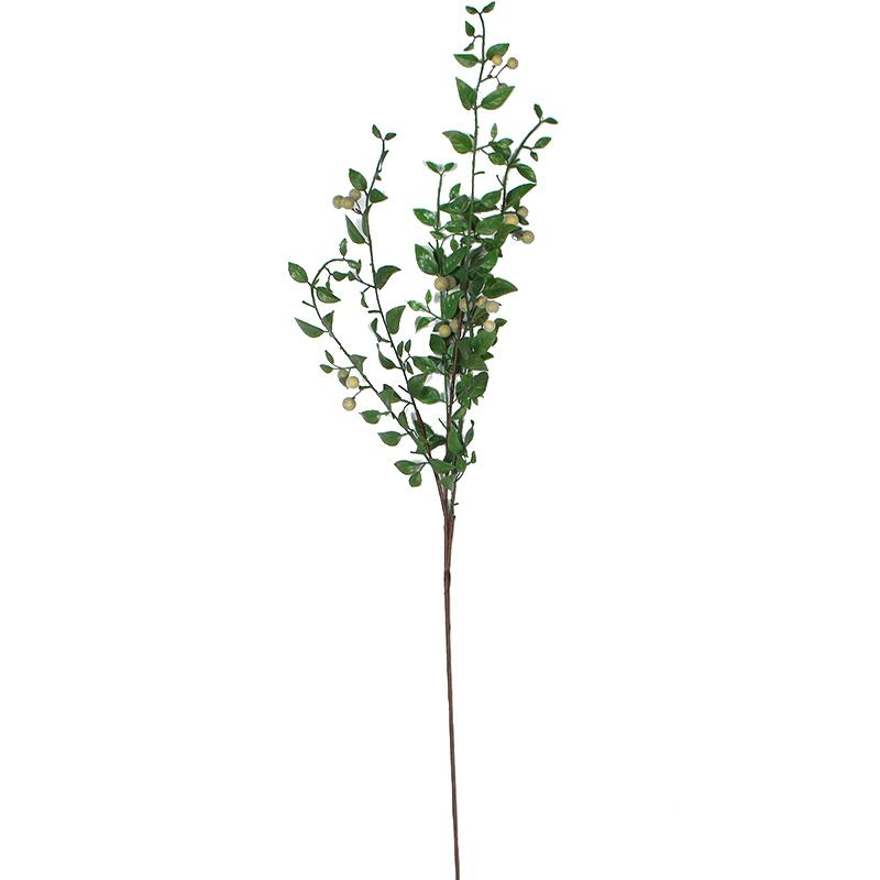 "Artificial Yellow Plum Fruit Stem 35"" Tall - G Home Collection"