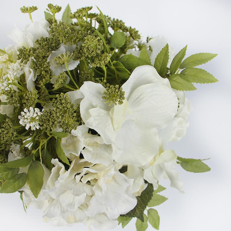 White Green Hydrangea and Lace Flower Arrangement - G Home Collection