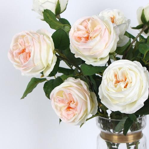 "Silk Single Rose Bloom Stem 29"" Tall - G Home Collection"