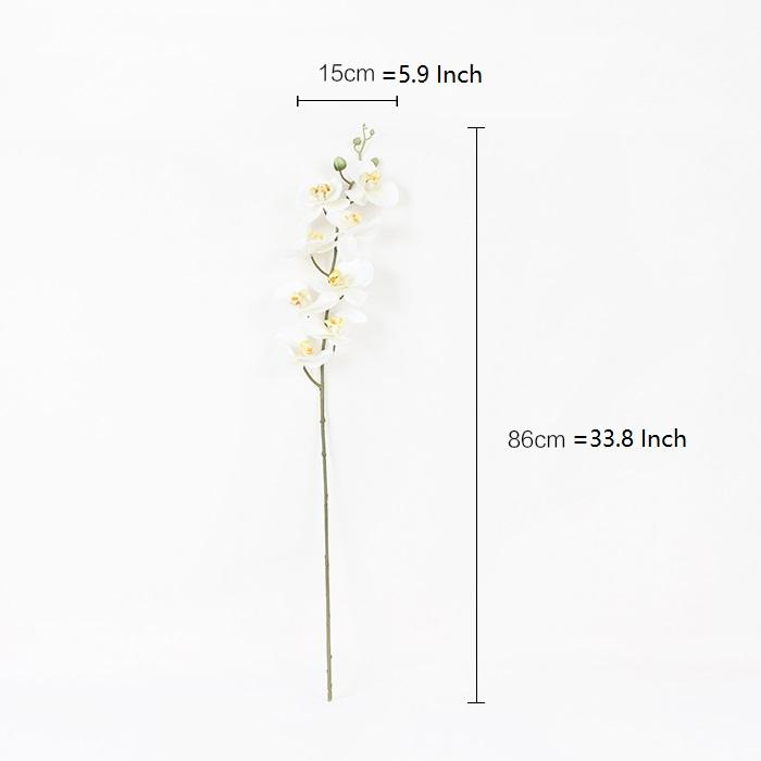 "Real Touch Butterfly Orchid Stem in White 34"" Tall - G Home Collection"