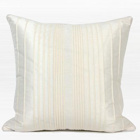 "Cream White Color Triangle Pattern Quilting Pillow 22""X22"""