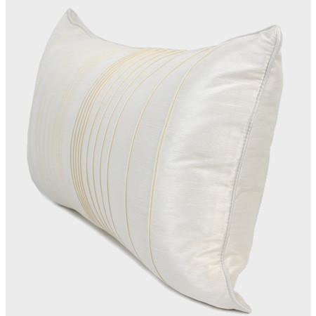 "White Striped Textured Pillow 12""X22"""