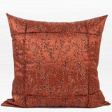 Red Brown Abstract Pattern Frame Jacquard Pillow 22