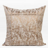 Champagne Gold Abstract Pattern Frame Jacquard Pillow 22