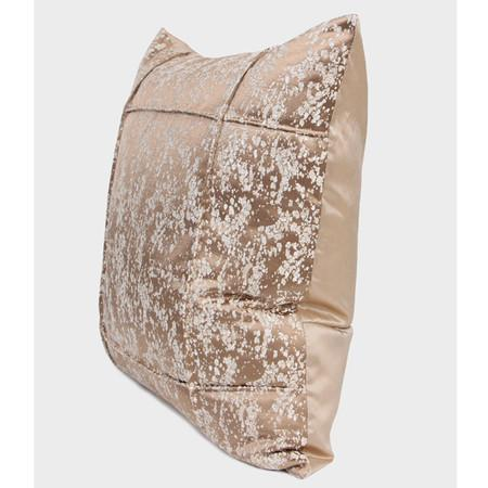 "Champagne Gold Abstract Pattern Frame Jacquard Pillow 22""X22"""