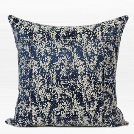 "Sky Blue European Pattern Embroidered Pillow 14""X22"""