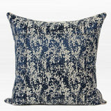 Blue Abstract Pattern Frame Jacquard Pillow 22