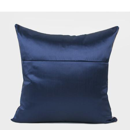 "Blue Abstract Pattern Frame Jacquard Pillow 22""X22"" - G Home Collection"