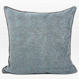 Gray Blue Chevron Jacquard Pillow 20