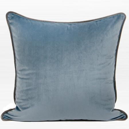 "Steel Blue Solid Color Flannel Fabric Pillow 20""X20"" - G Home Collection"