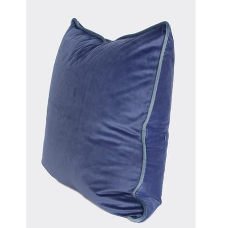 "Midnight Blue Solid Color Flannel Fabric Pillow 20""X20"""