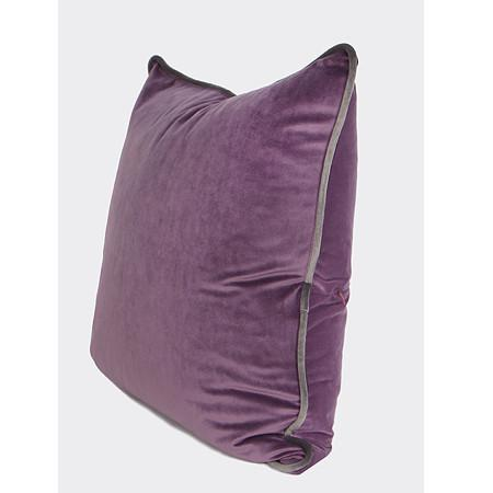 "Purple Solid Color Flannel Fabric Pillow 20""X20"" - G Home Collection"