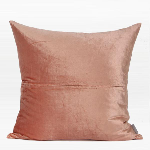 "Pink with Gold Faux Leather Embroidered Pillow 20""X20"" - G Home Collection"