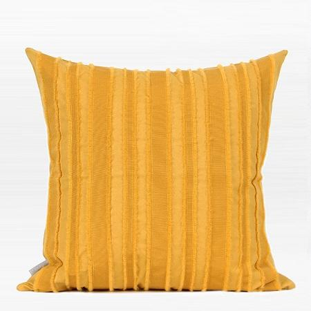 "Yellow Tassel Stripe Textured Pillow 20""X20"" - G Home Collection"