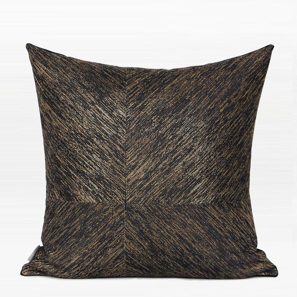 "Black and Gold Thin Stripe Four Area Pillow 20""X20"" - G Home Collection"