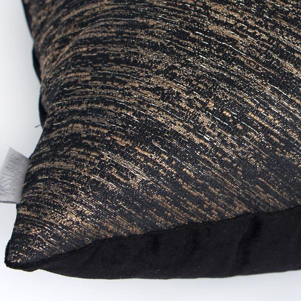 "Black and Gold Thin Stripe Two Area Pillow 20""X20"" - G Home Collection"