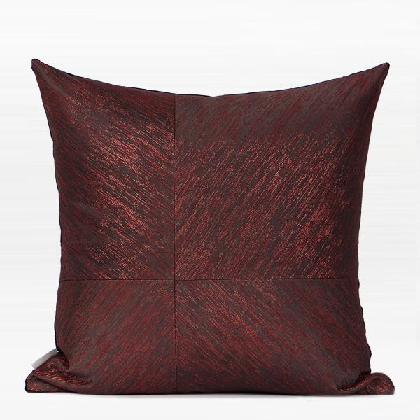 "Red and Black Thin Stripe Four Area Pillow 20""X20"" - G Home Collection"