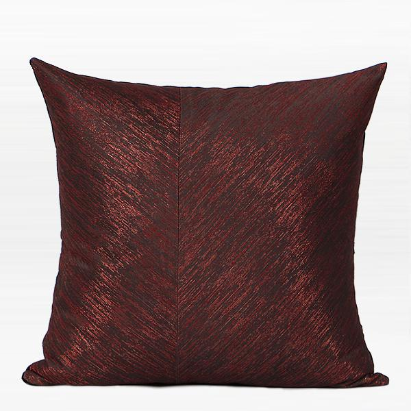 "Red and Black Thin Stripe Two Area Pillow 20""X20"" - G Home Collection"