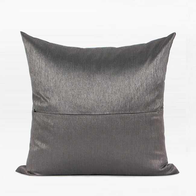 "Dark Gray Orange Wind Abstract Embroidered Square Pillow 20 X 20"" - G Home Collection"
