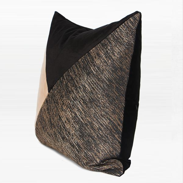 "Black and Gold Three Color Area Pillow 20""X20"" - G Home Collection"