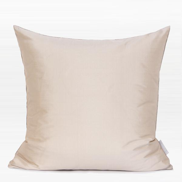 "Pink and Silver Three Color Faux Leather Pillow 16""X16"" - G Home Collection"
