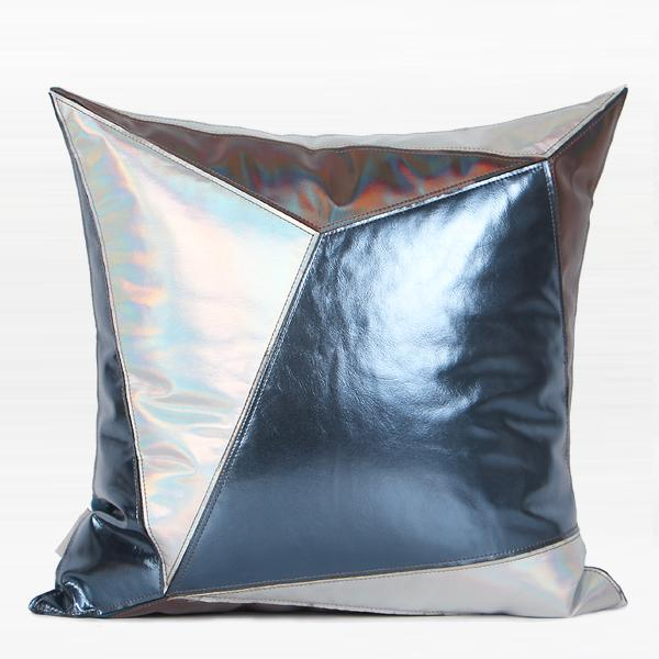 "Steel Blue Solid Color Flannel Fabric Pillow 20""X20"""