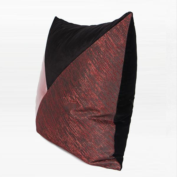 "Red and Black Three Color Area Pillow 20""X20"" - G Home Collection"