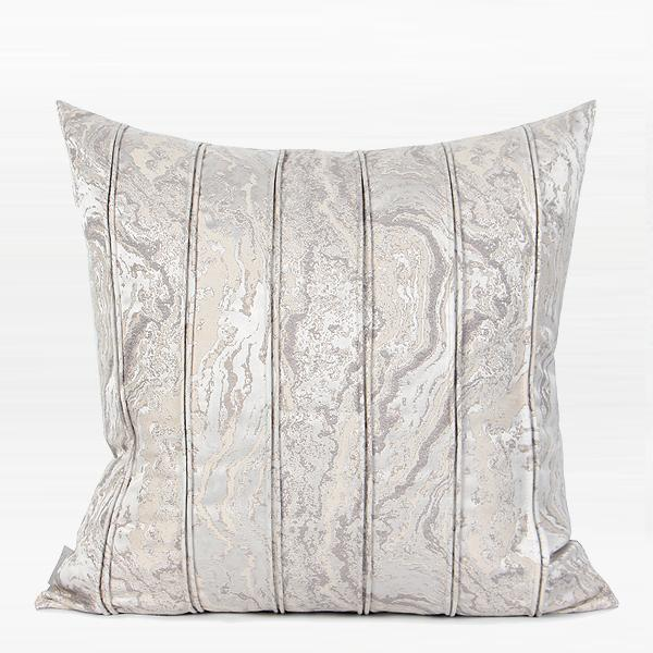"Light Gray Textured Striped Pillow 20""X20"" - G Home Collection"