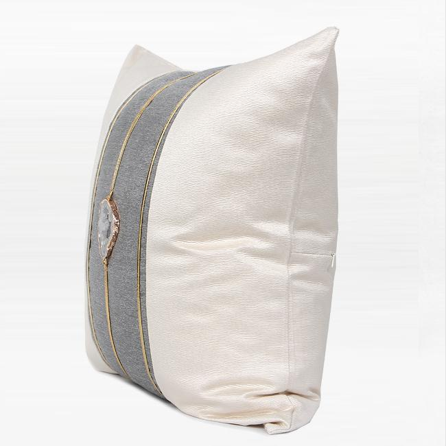 "Cream White Crystal Centerpiece Pillow 20""X20"" - G Home Collection"