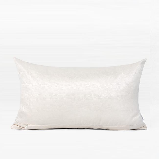 "Cream White Crystal Centerpiece Pillow 12""X20"" - G Home Collection"