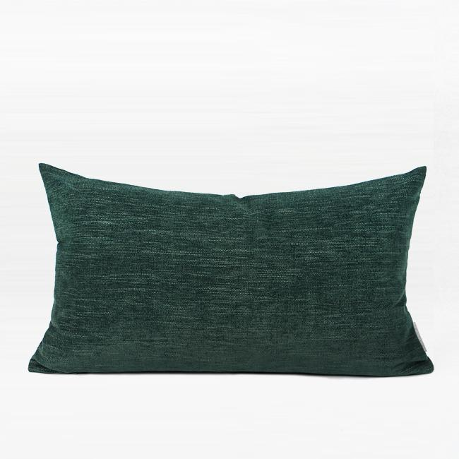 "Dark Green Beaded Chain Pillow 12""X20"" - G Home Collection"
