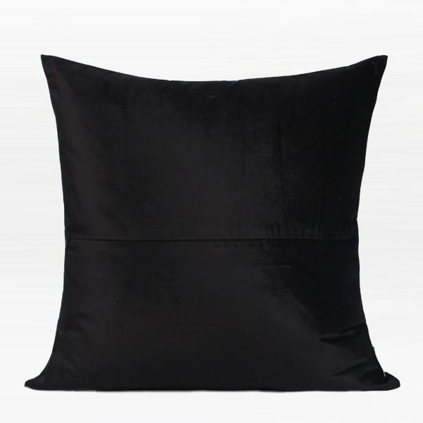 "Black and Gold Horizontal Line Jacquard Pillow 20""X20"" - G Home Collection"