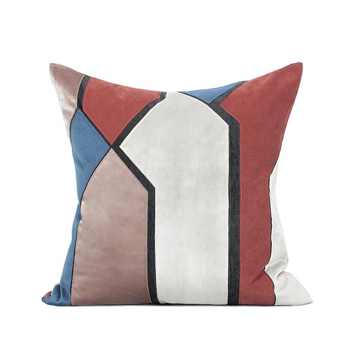"Blue Red Picasso Style Pillow 20""X20"" - G Home Collection"