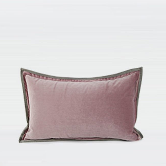 "Solid Color Suede Flange Edge Pillow 12 X 20"" - G Home Collection"