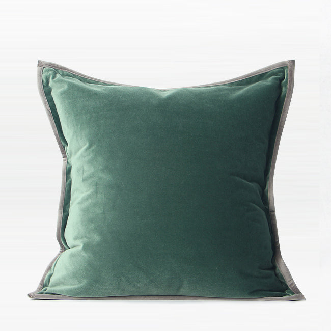 "Solid Color Suede Flange Edge Pillow 20 X 20"" - G Home Collection"