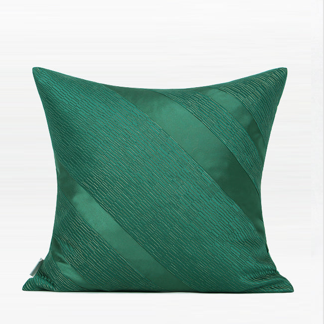 "Square Pillow Green Bold Slash Line Pillow 20 X 20"" - G Home Collection"