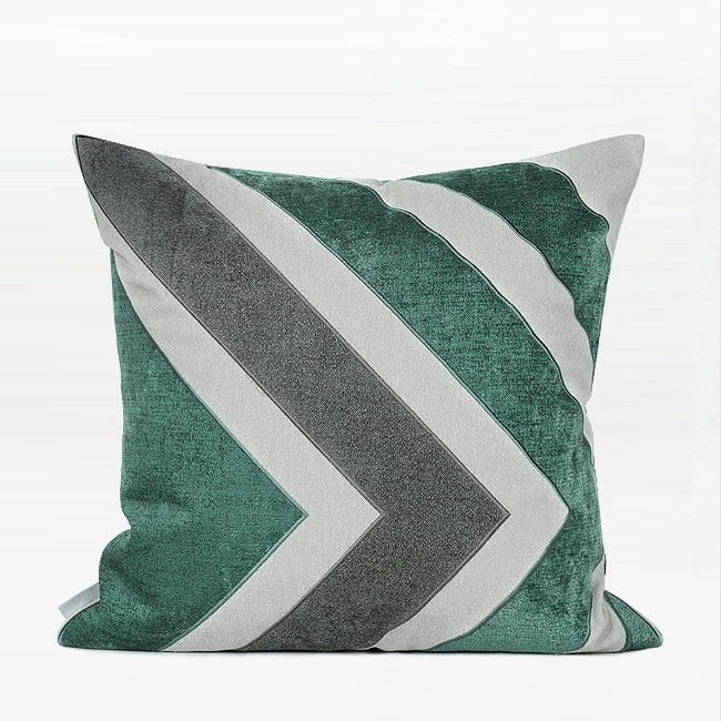 "Square Pillow Green Gray Large Arrow Pattern  20 X 20"" - G Home Collection"