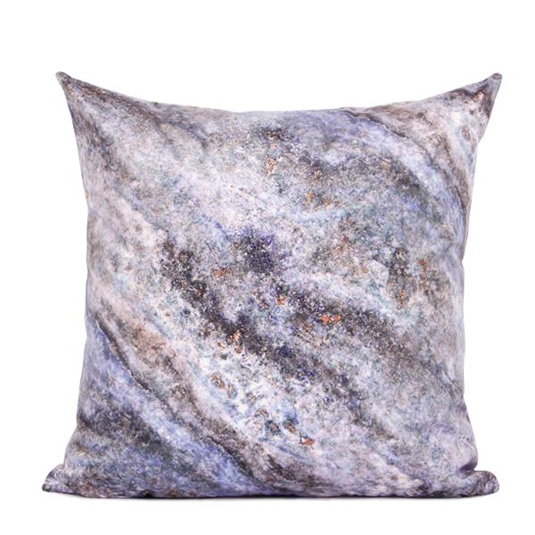 "Purple Galaxy Digital Printing Flannel Pillow 18""X18"" - G Home Collection"