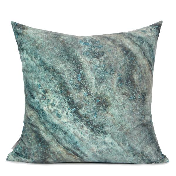 "Green Galaxy Digital Printing Flannel Pillow 18""X18"" - G Home Collection"
