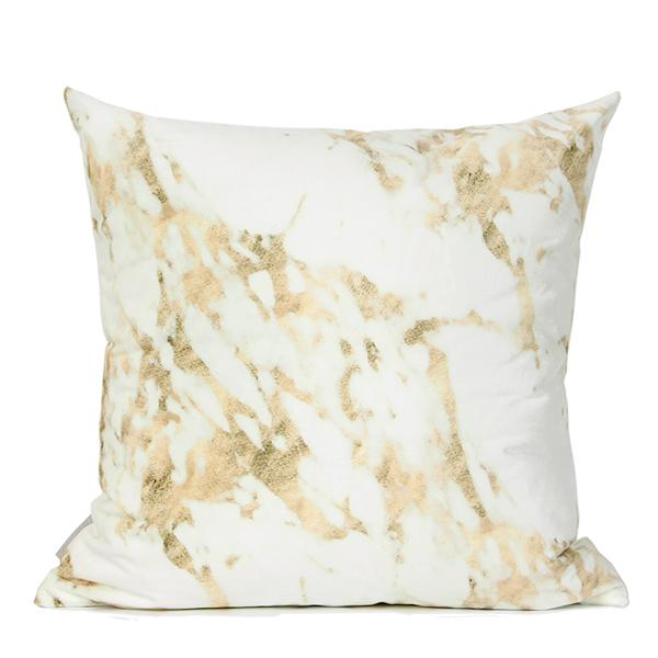 "Gold Marble Digital Printing Flannel Pillow 18""X18"""