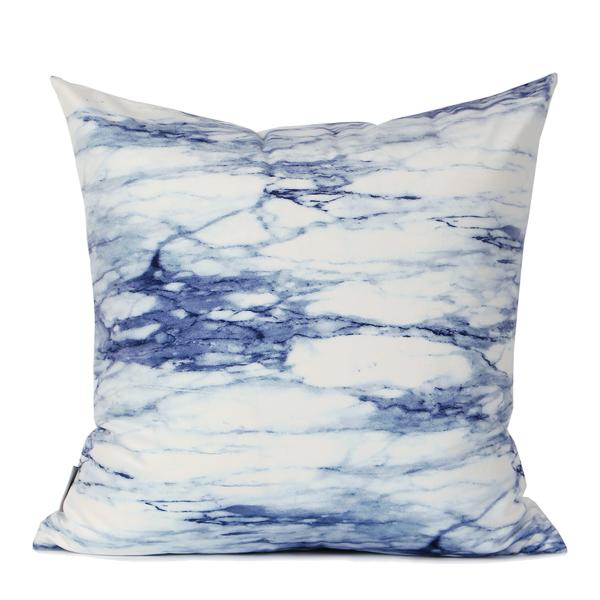"Blue Marble Digital Printing Flannel Pillow 18""X18"" - G Home Collection"