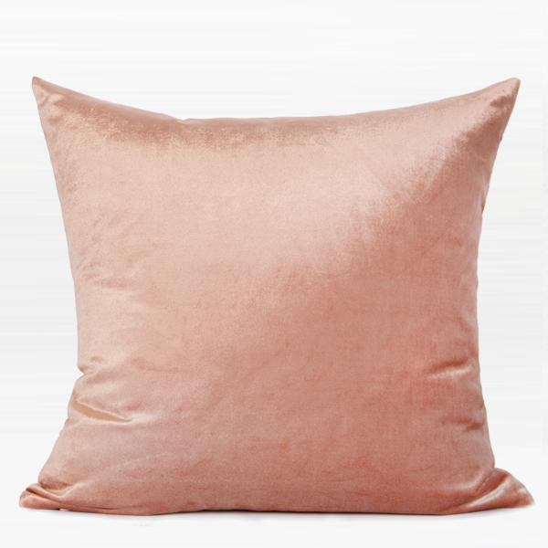 "Pink Marble and Gold Faux Leather Two Color Pillow 18""X18"" - G Home Collection"