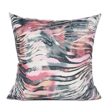 "Pink Black Snakeskin Digital Printing Flannel Pillow 18""X18"" - G Home Collection"