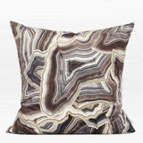 Brown Agate Pattern Digital Printing Flannel Pillow 18