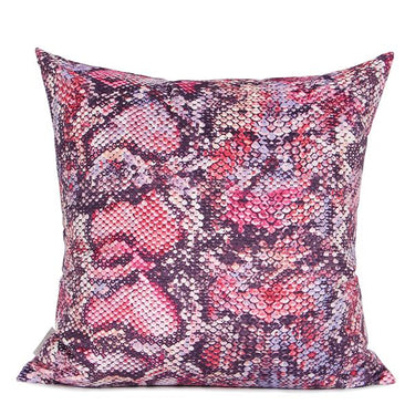 "Snakeskin Pattern Digital Printing Flannel Pillow in Rose 18""X18"" - G Home Collection"